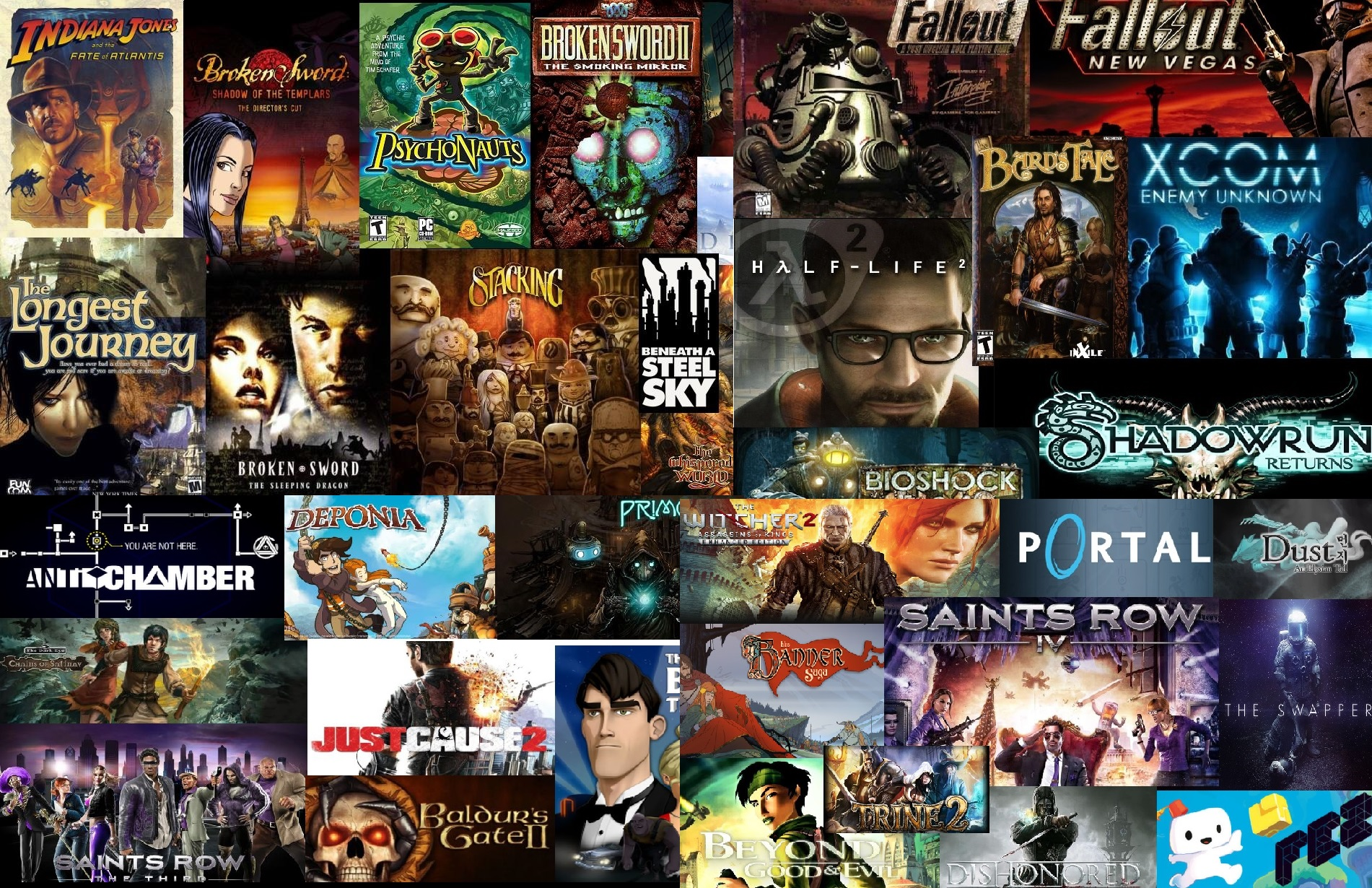 video game collage