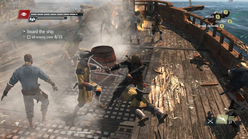 AC 4 Black Flag ship boarding