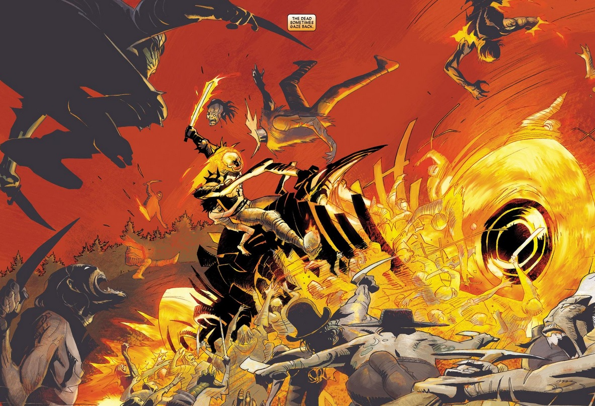 Our first story picks up after Johnny Blaze had just been given a startling  revelation about his past – his powers come not from Hell, but from Heaven.
