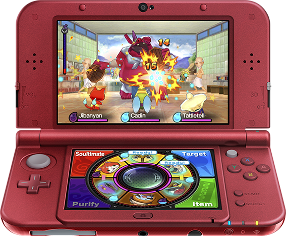 yo-kai watch 3ds battle