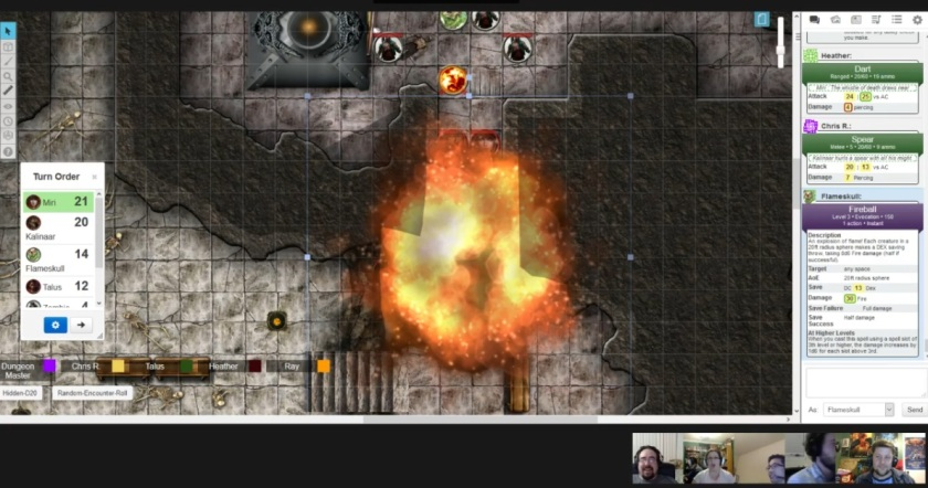 Wave Echo Cave flameskull fireball