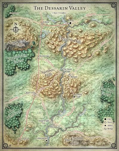 PotA Dessarin Valley map