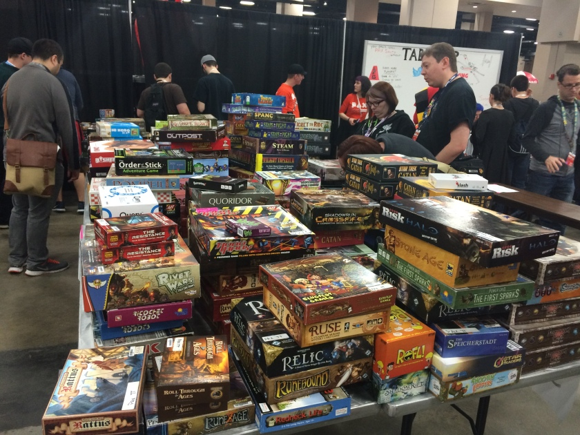 pax south tabletop area