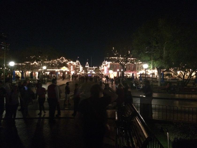 Disneyland main street night