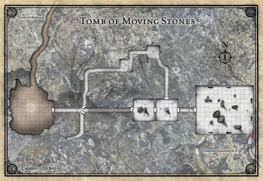 PotA Tomb of Moving stones map