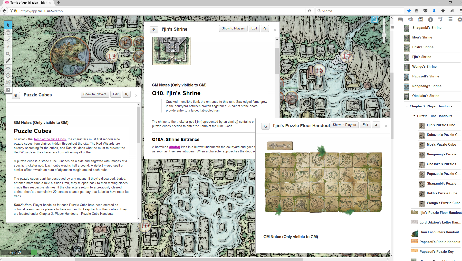 Roll20 Review: Tomb of Annihilation – Eric Watson