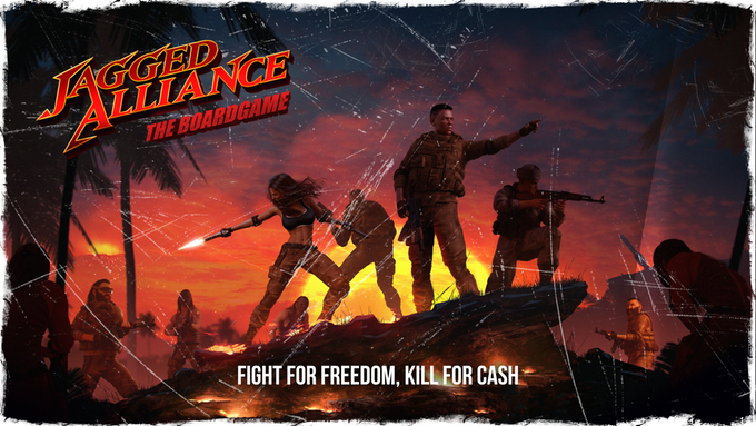 Jagged Alliance: The Board Game Now on Kickstarter
