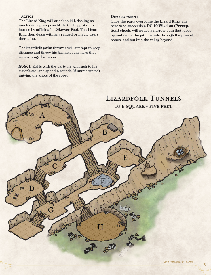 DMs Guild Review: Mini-Dungeons #1: Caves – Eric Watson