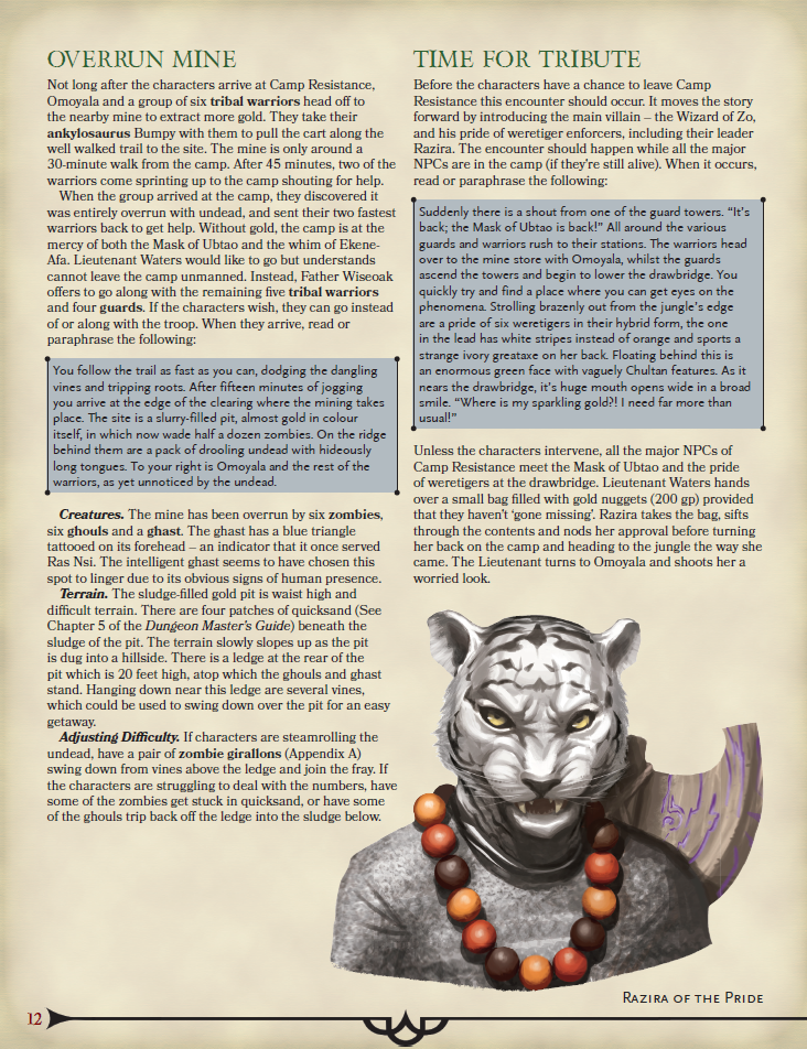 DMs Guild Review – The Wizard of Zo – Eric Watson