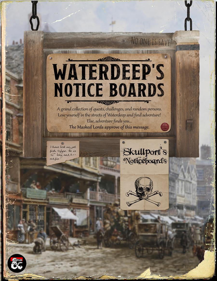DMs Guild Review – Notice Board: 42 Quests for Waterdeep andSkullport