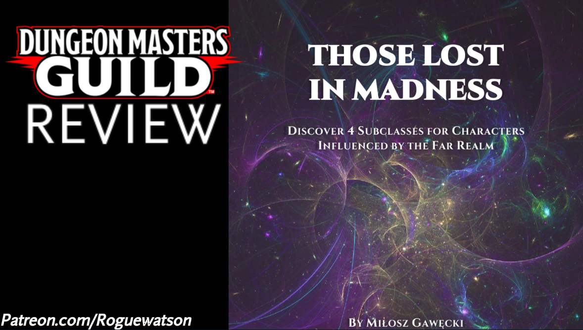 DMs Guild Review – Those Lost in Madness