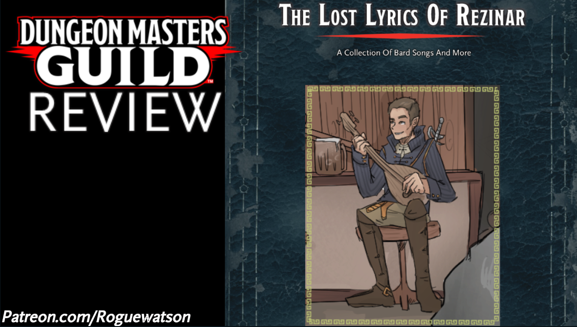 DMs Guild Review – The Lost Lyrics of Rezinar