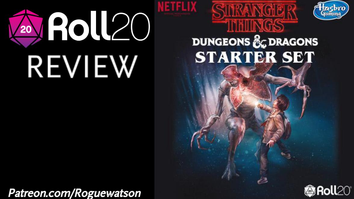 Roll20 Review – Stranger Things D&D StarterSet