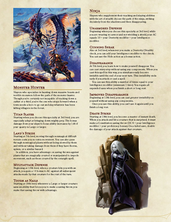 DMs Guild Review – The Slayer Class – Eric Watson
