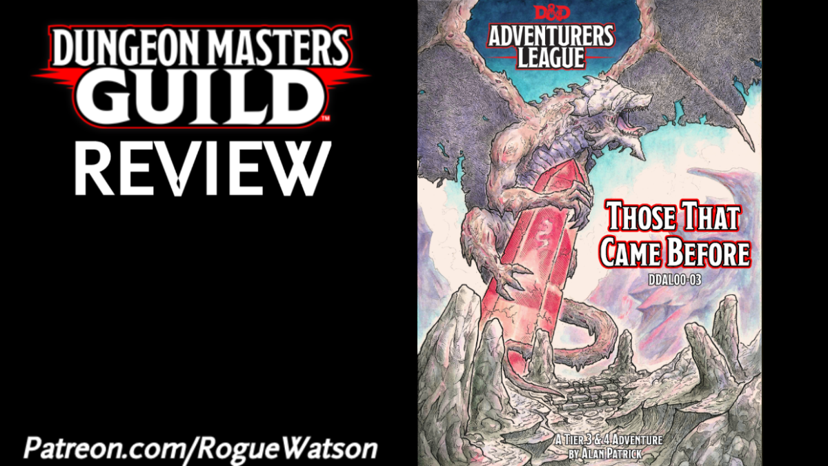 DMs Guild Review – Those That Came Before (Saga of the Worm 2)