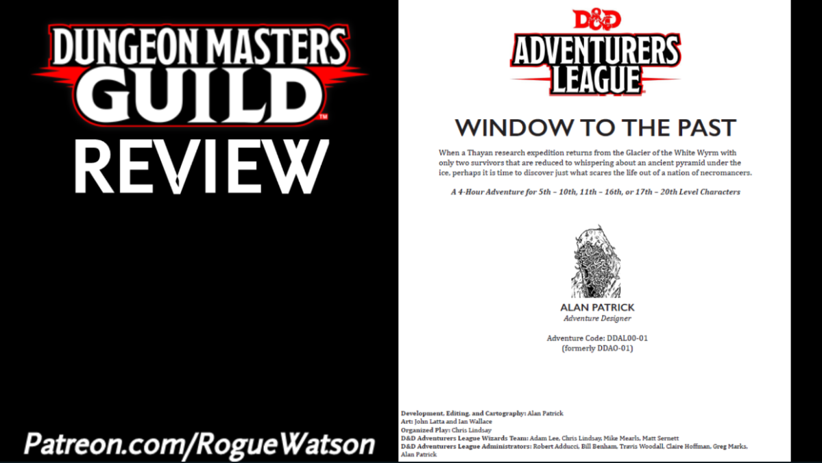DMs Guild Review – Window to the Past (Saga of the Worm 1)