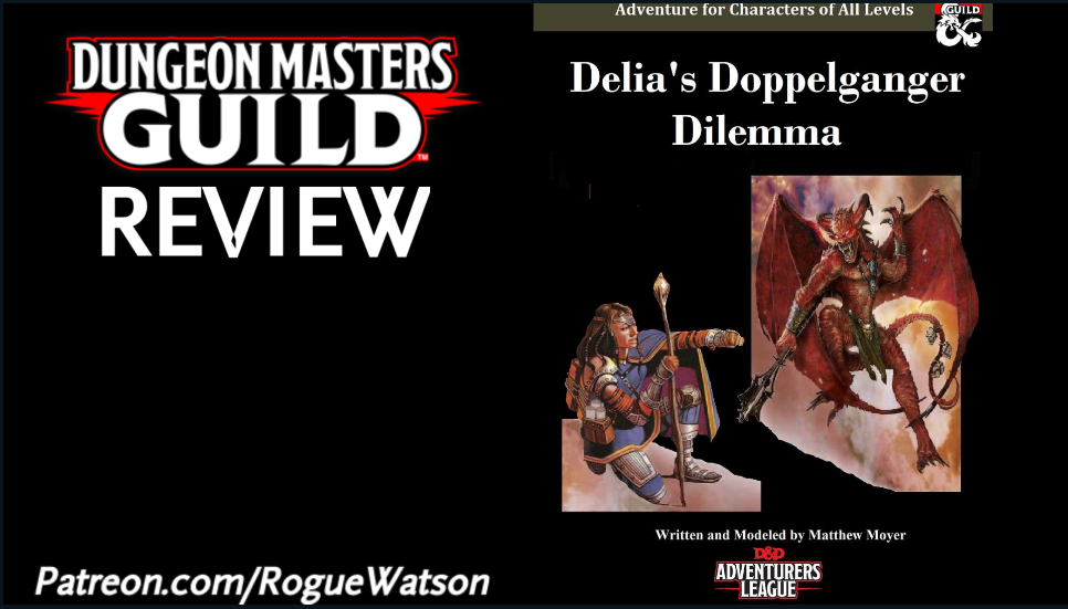DMs Guild Review – Delia's Doppelganger Dilemma