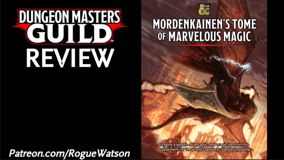 DMs Guild Review – Mordenkainen's Tome of Marvelous Magic