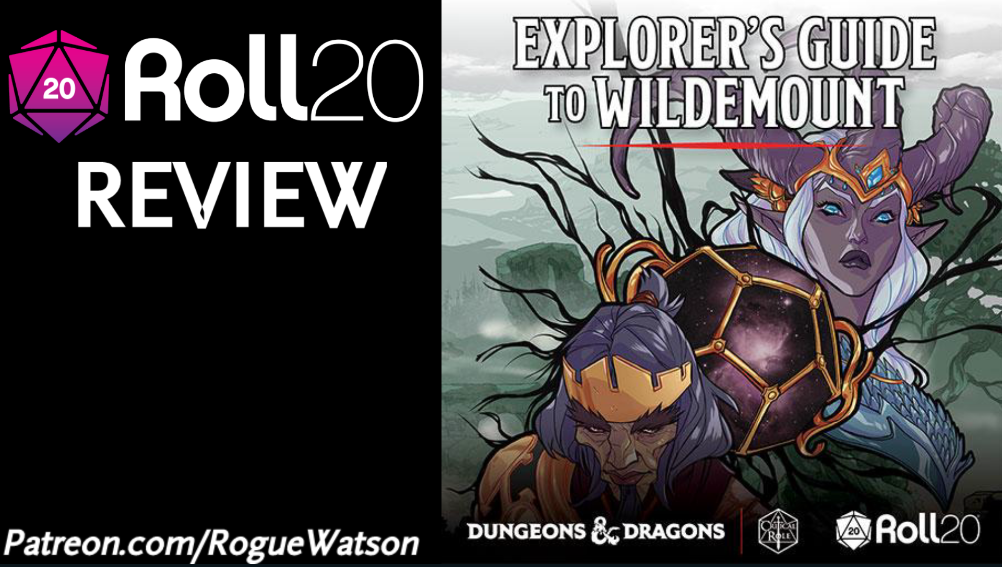 Roll20 Review – Explorer's Guide to Wildemount