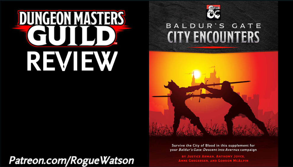 DMs Guild Review – Baldur's Gate: City Encounters