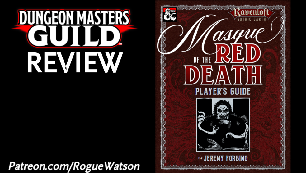 DMs Guild Review – Masque of the Red Death Player's Guide