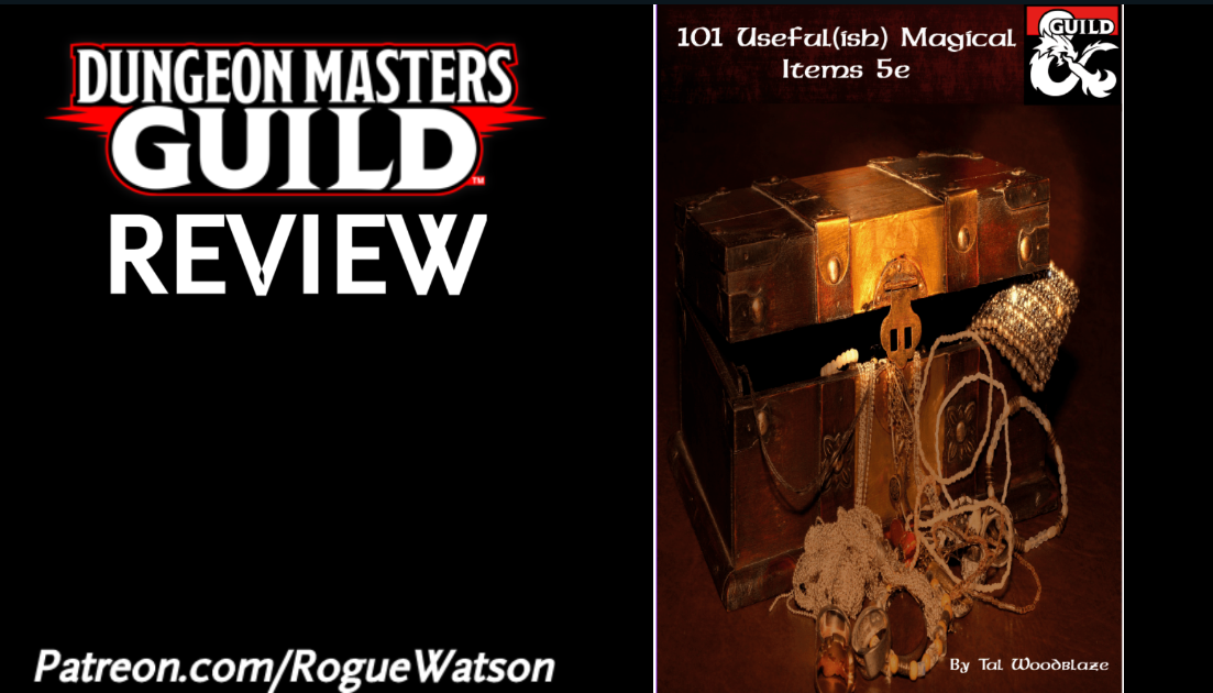 DMs Guild Review – 101 Useful (ish) Magical Items