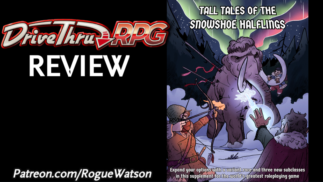 DriveThruRPG Review – Tall Tales of the Snowshoe Halflings