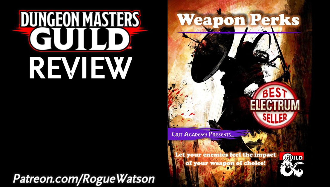 DMs Guild Review – Weapon Perks