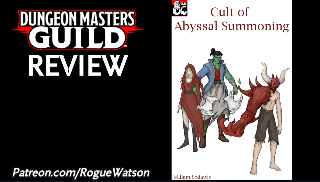 DMs Guild Review – Cult of AbyssalSummoning