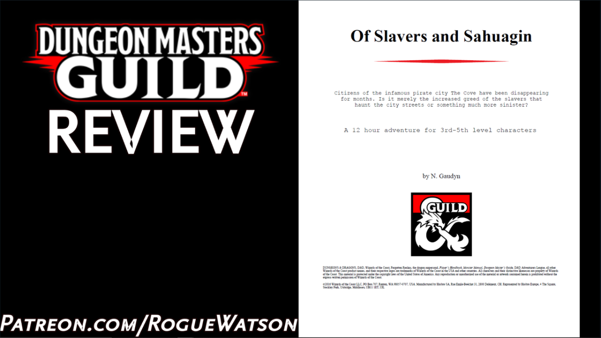 DMs Guild Review – Of Slavers and Sahuagin