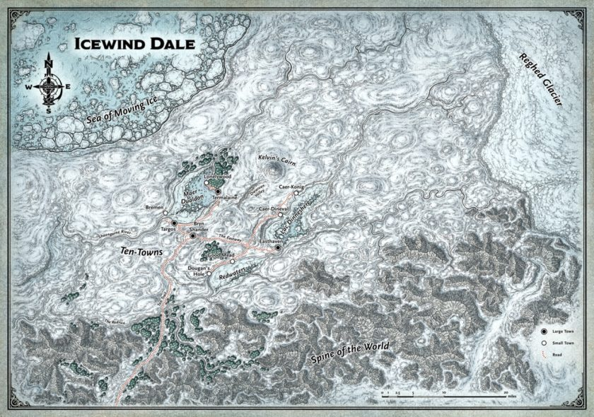 icewind dale player map
