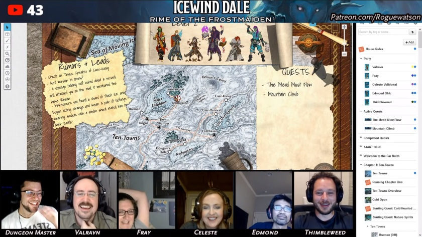 Rime of the frostmaiden session 6 level up