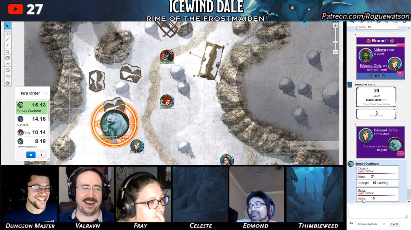 Rime of the frostmaiden session 7 snowy owlbear