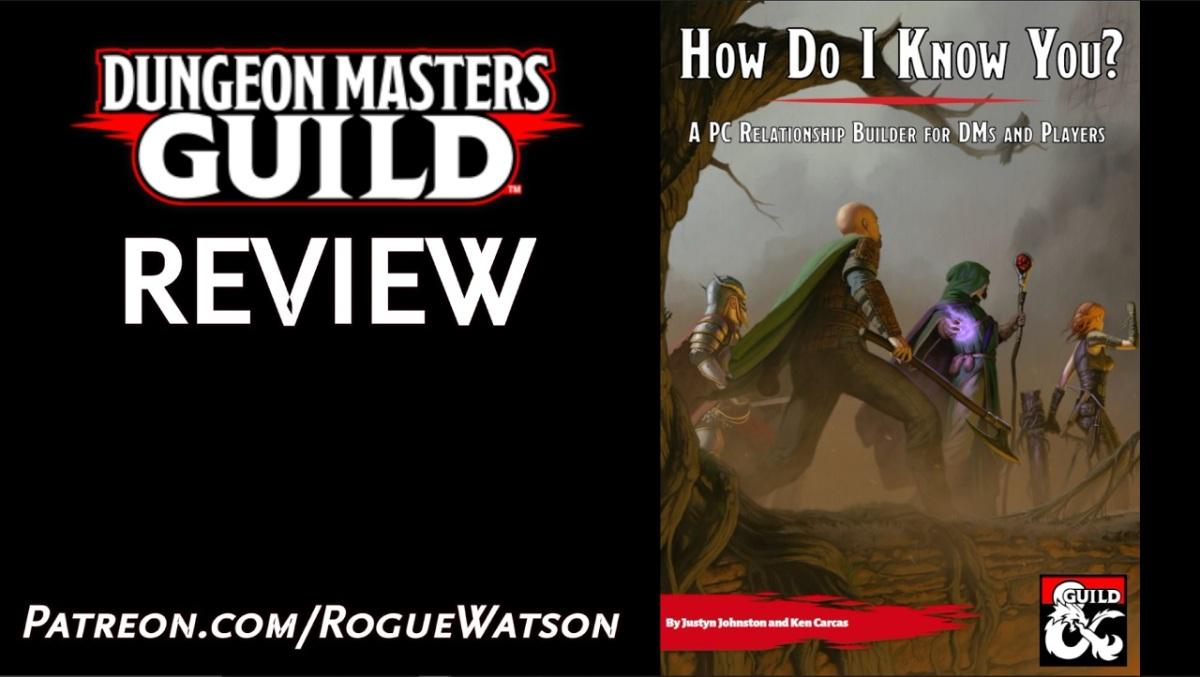 DMs Guild Review – How Do I KnowYou?